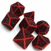 Red & Black Celtic 3D Dice Set